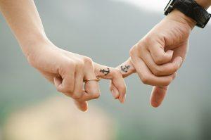 двойка партньори любов
